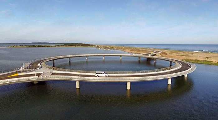 Как вы думаете, почему архитекторы решили построить этот транспортный мост в форме окружности?