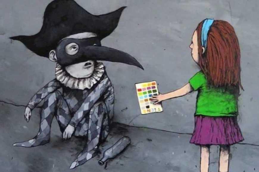 Смелые иллюстрации от уличного художника о современном обществе