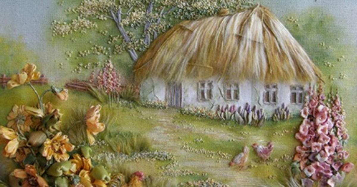 Великолепная живопись лентами от Анжелы Юклянчук