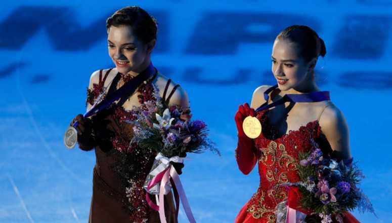 Евгения Медведева и Алина Загитова стали самыми обсуждаемыми спортсменками во время ОИ-2018