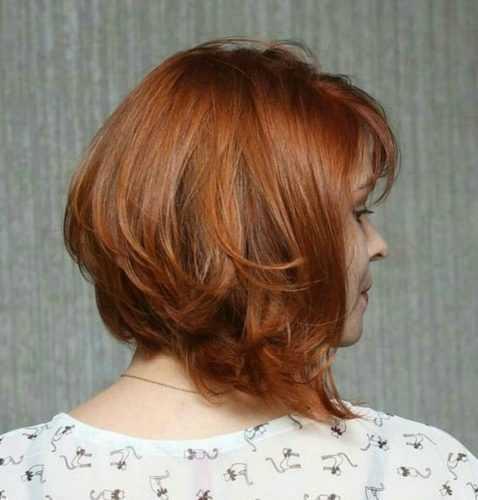 Боб-каре фото причесок градуированный на длинные волосы