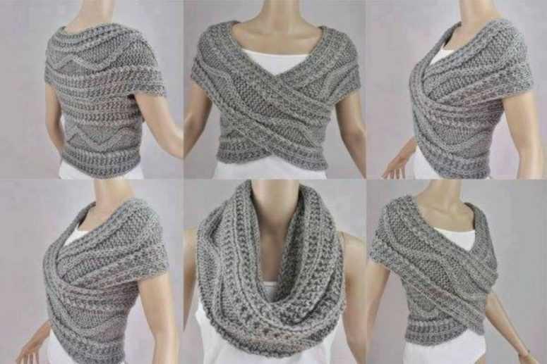 Новый образ каждый день: японский шарф-трансформер