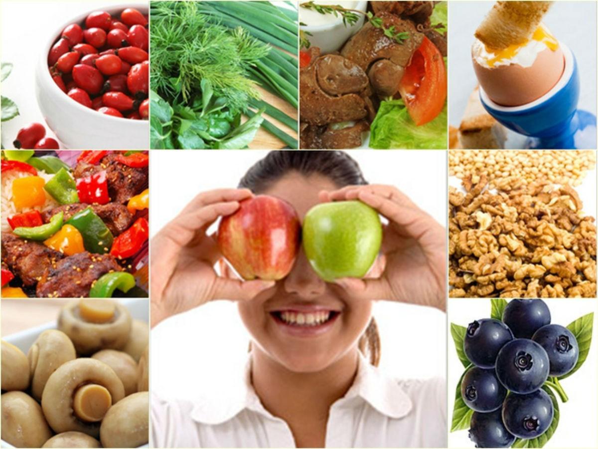 Список продуктов, которые помогут сохранить зрение