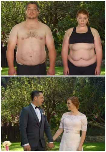 Врачи сказали супругам: худейте или умрете. На свадьбе гости потеряли дар речи