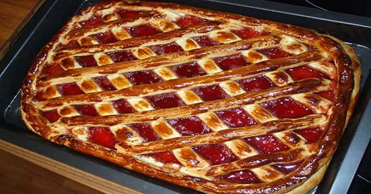 Пирог с вареньем на скорую руку — просто находка